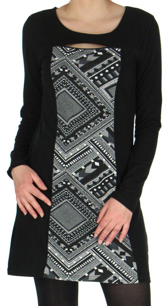 Robe Originale et Ethnique idéale pour Soirée Angie Noire 278978