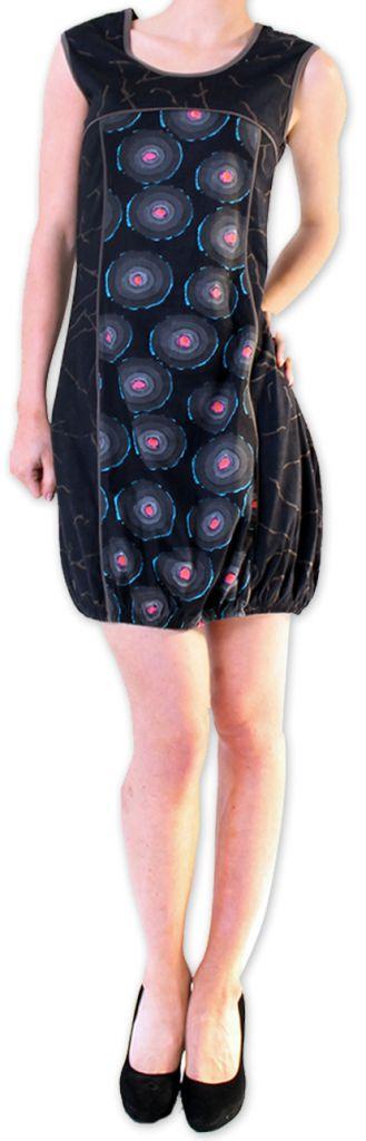 Robe Originale et Imprimée courte pour l'été  Dounnia Noire 276918