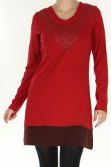 Robe Originale et Tribale à manches longues Habanita Rouge 278823