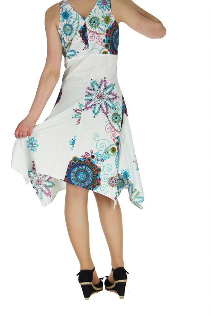 Robe originale florale blanche Lisandre 269986
