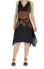 Robe originale florale noire Lisandre 269980