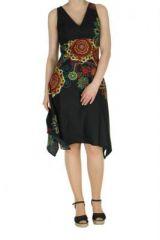 Robe originale florale noire Lisandre 269981