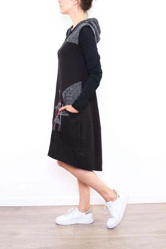 Robe originale grise avec une capuche Noumina 302657