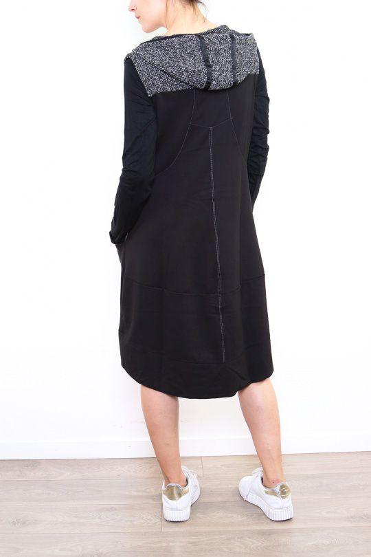 Robe originale grise avec une capuche Noumina 302658