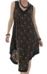robe originale mi-longue avec col v et coupe asymétrique Vána 292160