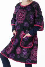 Robe originale noire et rose pour fille 287245