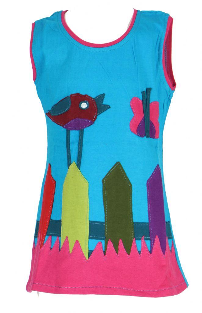 Robe originale pour enfant bleue Pioupiou 270907