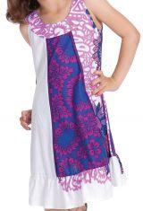 Robe Originale pour fille au col Collier Neptune Rose 280170