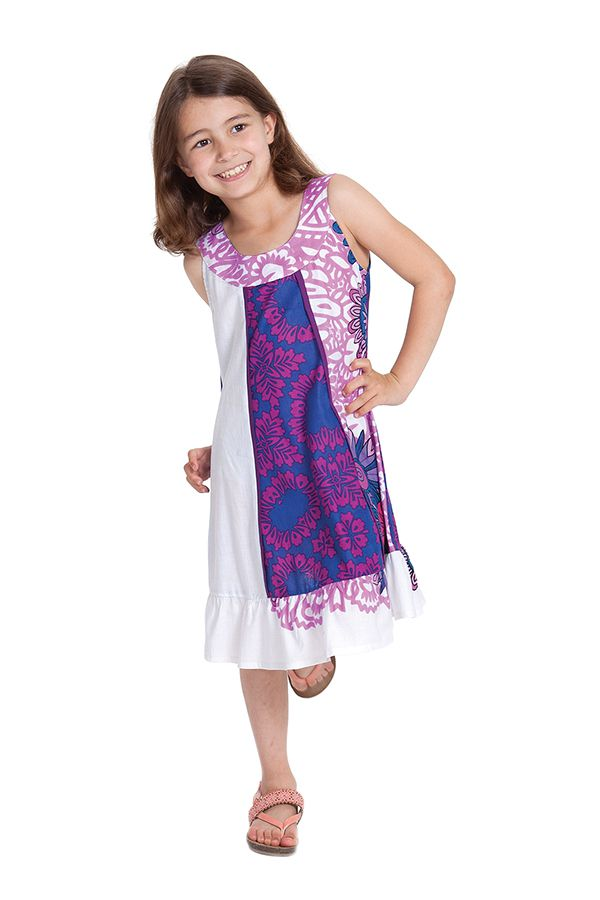 Robe Originale pour fille au col Collier Neptune Rose 280171