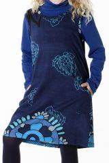 Robe originale pour petite fille de couleur bleu 287398