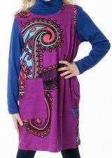 Robe originale pour petite fille de couleur fushia 287401