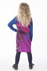 Robe originale pour petite fille de couleur fushia 287403