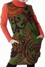 Robe originale pour petite fille de couleur kaki 287395