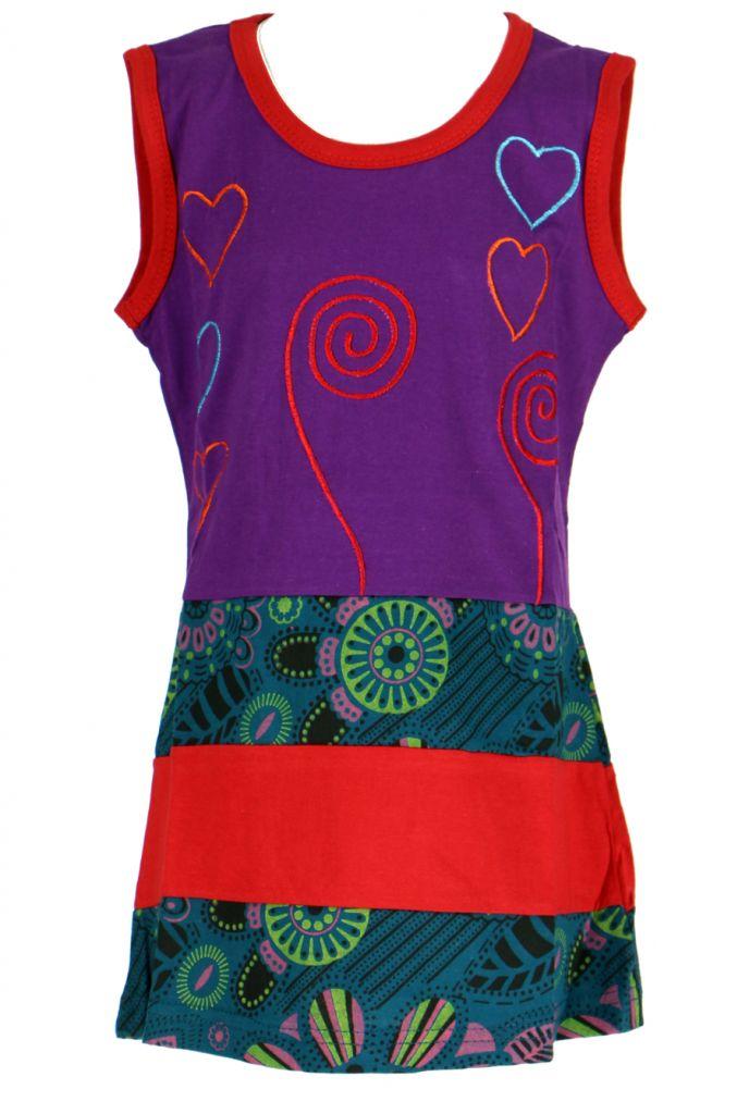 Robe originale violette pour fillette Sara 268647