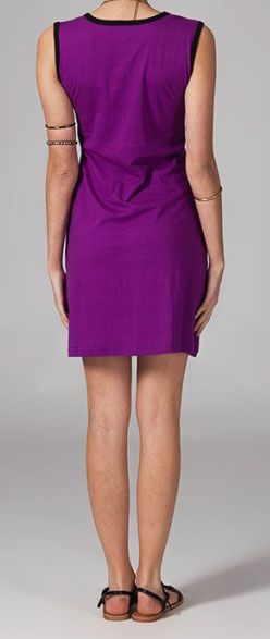 Robe originale violette Rajae