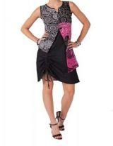 Robe orignale et colorée noire et rose Elisa 267559