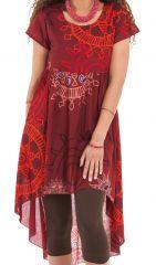 Robe ou Tunique courte Rouge Originale et Asymétrique Gabriella 281915
