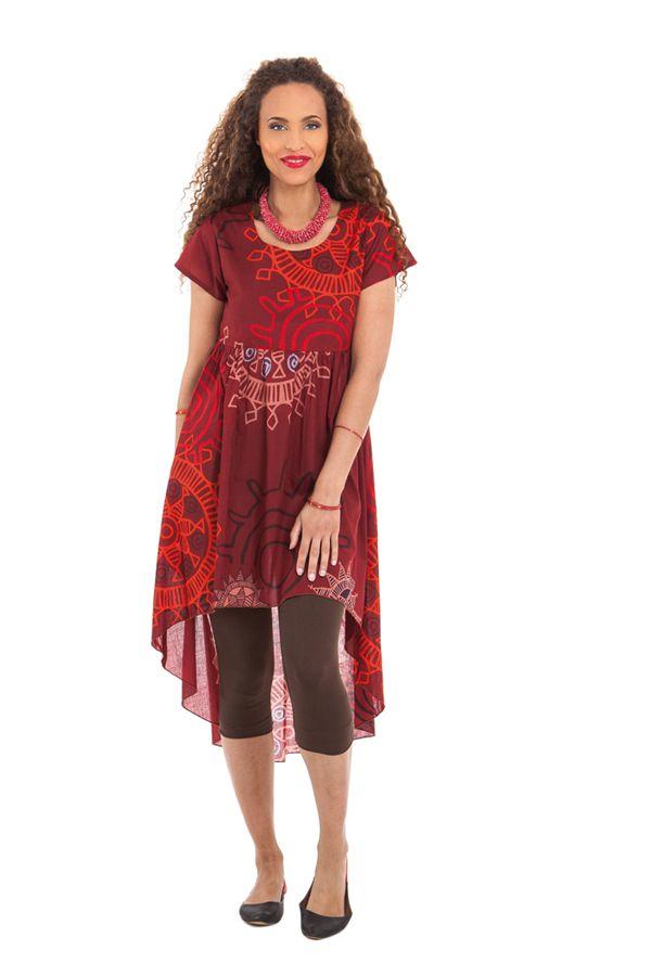 Robe ou Tunique courte Rouge Originale et Asymétrique Gabriella 281916