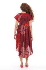 Robe ou Tunique courte Rouge Originale et Asymétrique Gabriella 281917