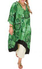 Robe ou Tunique originale grande taille à manches 3/4 Ethna 309783