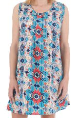 Robe ou tunique sans manches imprimée ethnique Kalya 310439