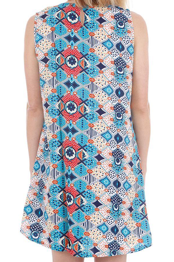 Robe ou tunique sans manches imprimée ethnique Kalya 310440