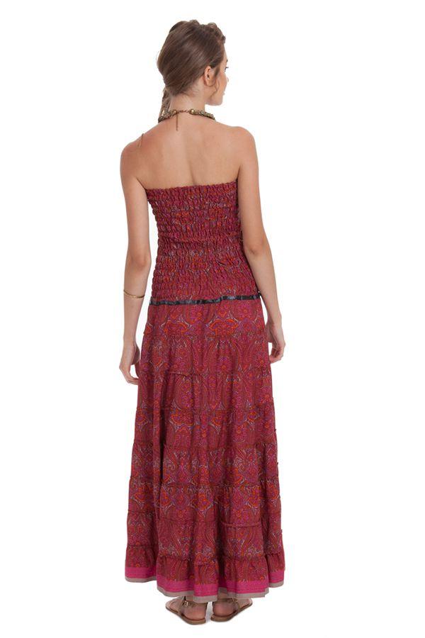 robe longue a bustier chic et ethnique matala bordeaux. Black Bedroom Furniture Sets. Home Design Ideas