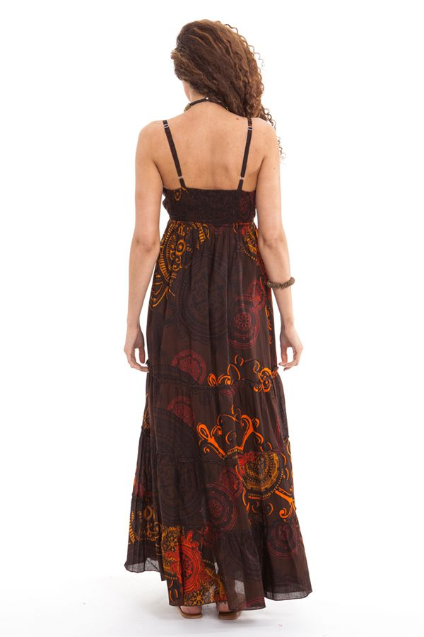 robe longue d ete a fines bretelles originale et coloree. Black Bedroom Furniture Sets. Home Design Ideas