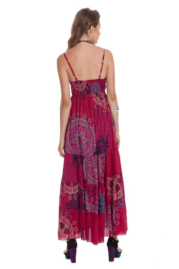 robe longue d ete rose a fines bretelles originale et coloree anna. Black Bedroom Furniture Sets. Home Design Ideas