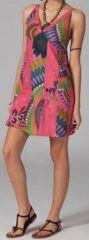 Robe pas chère colorée et originale look ethnique Anice 269784