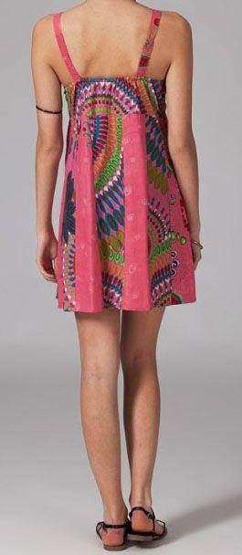 Robe pas chère colorée et originale look ethnique Anice 269785