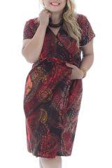 Robe portefeuille + size avec imprimées et col cache-coeur Deltas 295047