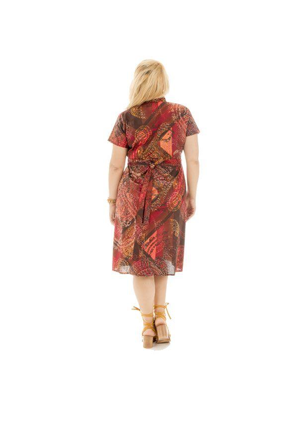 Robe portefeuille + size avec imprimées et col cache-coeur Deltas 295049