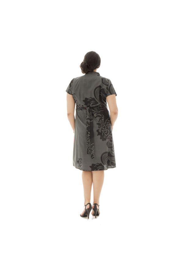 Robe portefeuille avec imprimées et col cache-coeur Deltas 290416