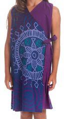 Robe portefeuille d'été pour Fille Ethnique Nanny Violette 280396