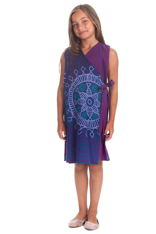 Robe portefeuille d'été pour Fille Ethnique Nanny Violette 280397