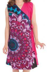 Robe portefeuille d'été Rose pour Fille Ethnique Nanny 280400