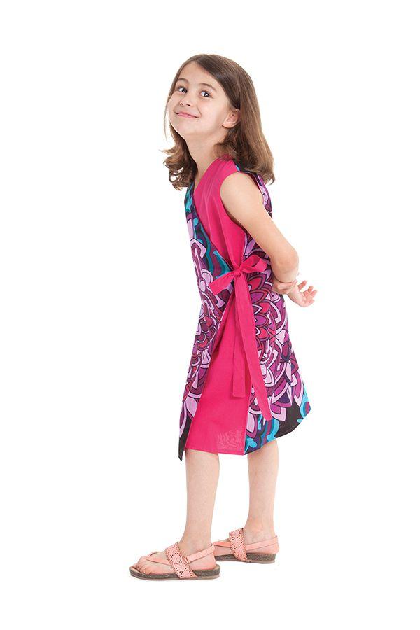 Robe portefeuille d'été Rose pour Fille Ethnique Nanny 280401