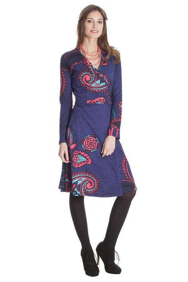Robe Portefeuille Ethnique aux Imprimés Paisleys Lumen 285485