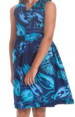 Robe Portefeuille pour Enfant Colorée et Imprimée Larry Bleue 280394