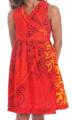 Robe Portefeuille pour Enfant Imprimée et Colorée Larry Rouge 280243