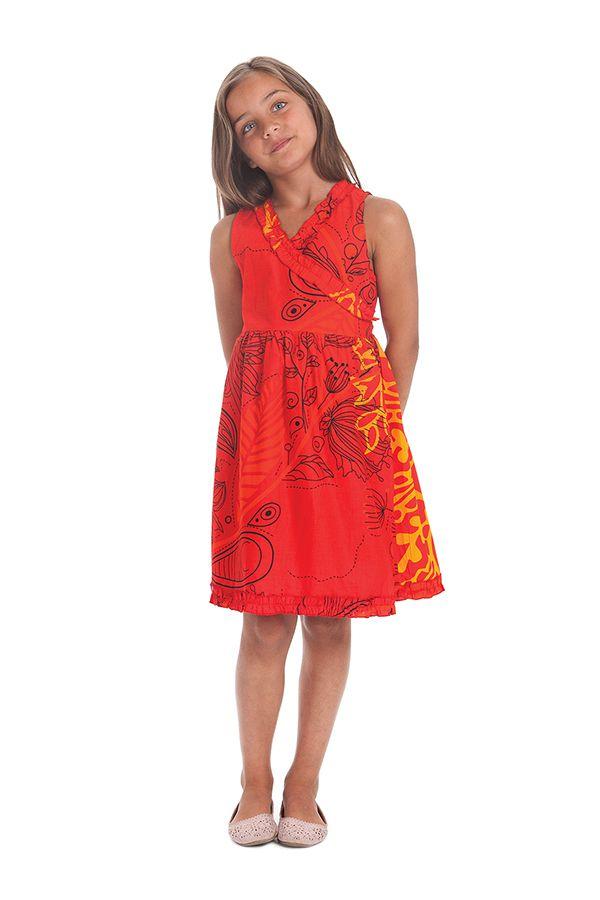robe portefeuille pour enfant imprimee et coloree larry rouge. Black Bedroom Furniture Sets. Home Design Ideas