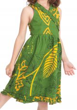 Robe Portefeuille pour Enfant Verte Colorée et Imprimée Larry 280391