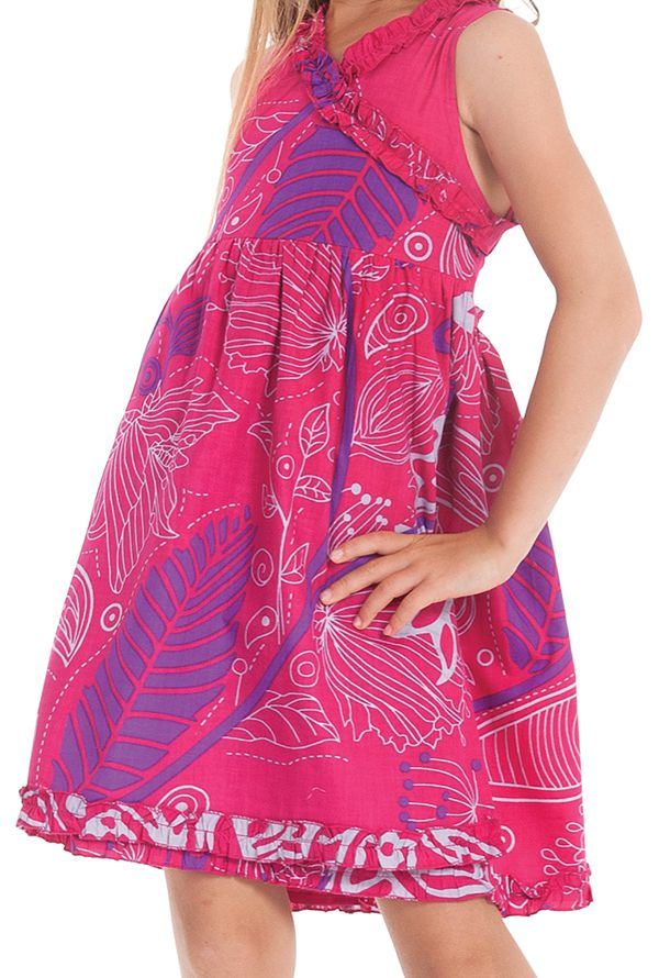 Robe Portefeuille Rose pour Enfant Imprimée et Colorée Larry 280246