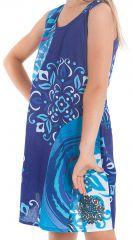 Robe pour Enfant à larges bretelles très Colorée Roxy Bleue 280178