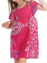 Robe pour Enfant à manches courtes Colorée et Agréable Iga Rose 279823