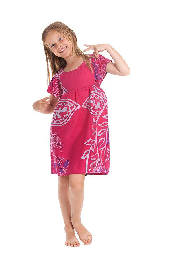 Robe pour Enfant à manches courtes Colorée et Agréable Iga Rose 279826