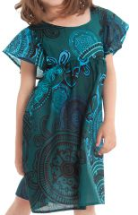 Robe pour Enfant à manches courtes Colorée et Agréable Iga Verte 279835