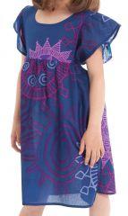 Robe pour Enfant à manches courtes Colorée Indigo et Agréable Iga 279827