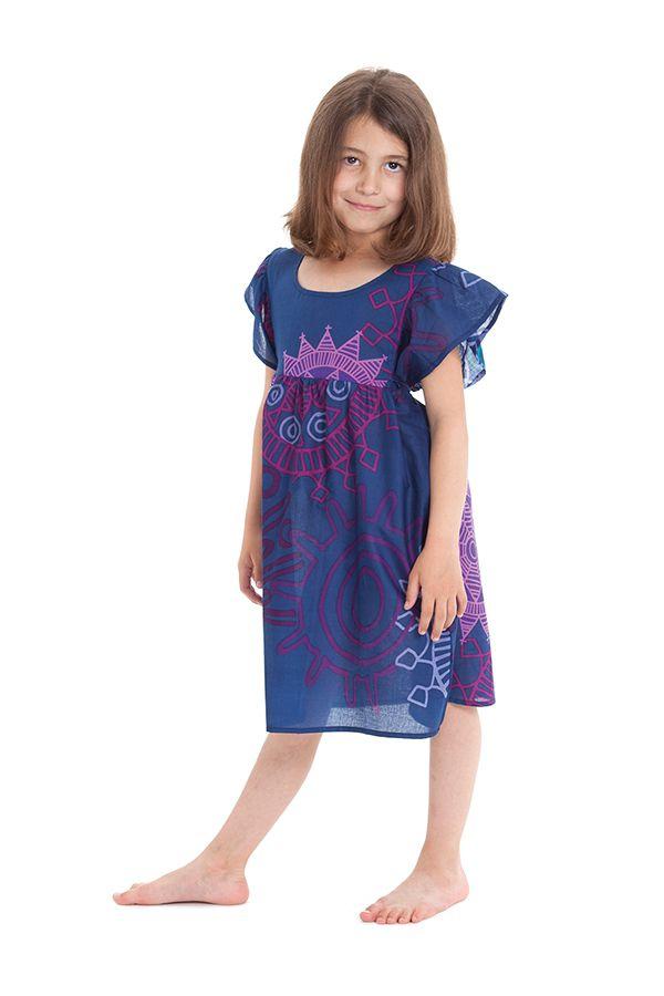 Robe pour Enfant à manches courtes Colorée Indigo et Agréable Iga 279828